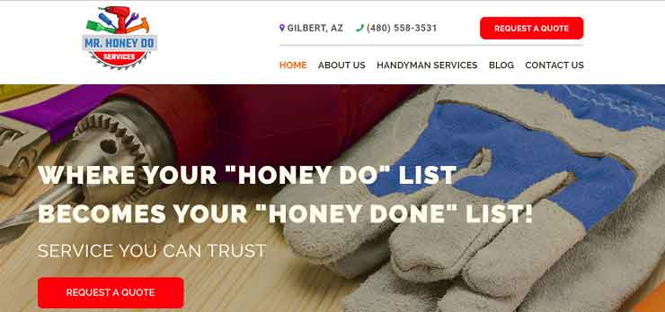 Welcome to The New Mr Honey Do Website