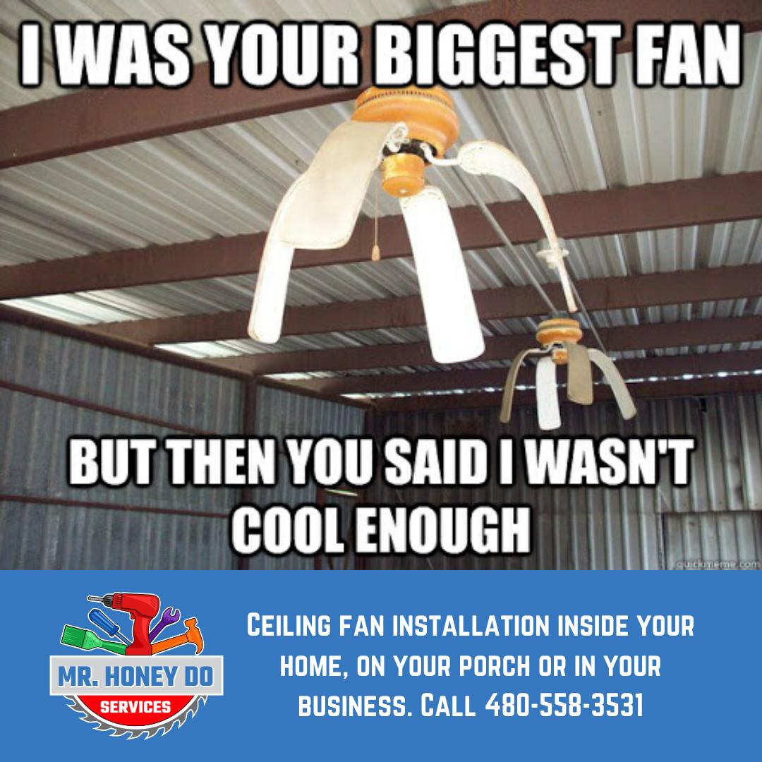 Featured Service: Ceiling Fan Installation